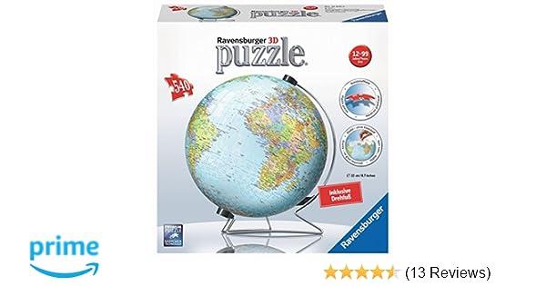 Puzzles Globus in deutscher Sprache 3D Puzzle-Ball 540 Teile Spiel Deutsch 2017 Geduldspiel