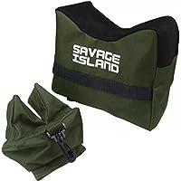 Appoggio anteriore e posteriore per fucili / Sacchetto da tiro per carabina, caccia e tiro a segno - Verde