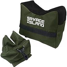 Banco de tiro para Armas de aire comprimido y Rifles Soporte de apoyo Arma de disparo - verde