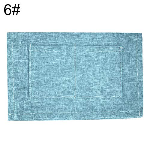 Renendi Staubschutz mit Tasche, einfarbig, wasserfest, für Kühlschrank, Waschmaschine, Ofenhandtuch, Leinen, 6# -