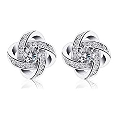 Idea Regalo - B.Catcher coppia di orecchini da donna in argento, zirconi