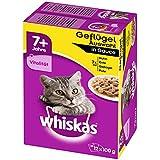 Whiskas 7+ Katzenfutter Geflügelauswahl in Sauce, 48 Beutel (4 x 12 x 100 g)