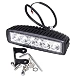#5: Blue Monkey Bar Spot Beam Off Road Driving 6 CREE LED Fog Light Lamp Universal Fitting for All Bikes and Cars (18W) - Pack of 1