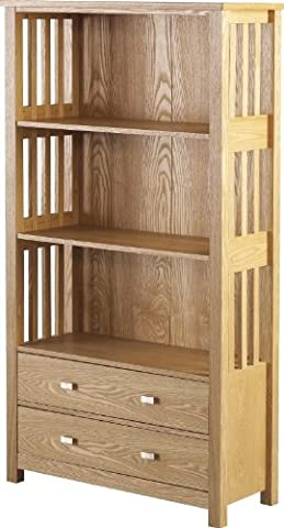 Ashmore 2 Drawer Bookcase (High) in Ash Veneer by Direct Place