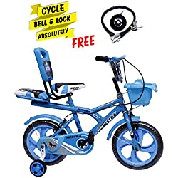 Speed bird cycle industries 14-T Robust Double Seat Kid Bicycle (Sky Blue, 3-6 Years)