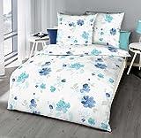 Kaeppel inoxidable Seersucker Ropa de cama Tender turquesa azul blanco algodón 472/443, tamaño: 155x 220cm Ropa de cama