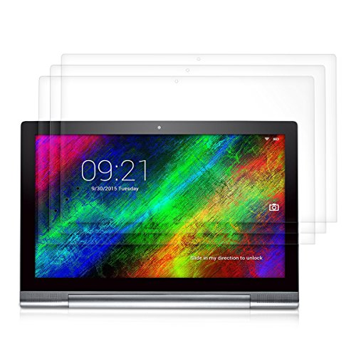 3x kwmobile Folie für Lenovo Yoga Tablet 2 Pro 13 (1380) - kristallklar Tablet Displayschutzfolie Crystal Clear Displayschutz Displayfolie Schutzfolie