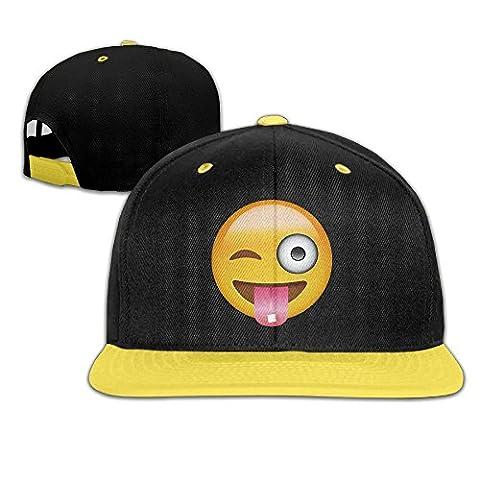 Huseki Wechat Emoji Naughty Face Kid's Adjustable Snapback Hat Baseball
