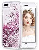 wlooo Handyhülle iPhone 8 Plus Glitzer Hülle,Flüssig Bewegende Treibsand Fließend Flüssigkeit Glitter Quicksand Transparent Silikon Weich Bumper Schutzhülle Case für iPhone 6 Plus/6s Plus/7 Plus