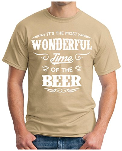 OM3 - WONDERFUL-BEER - T-Shirt GEEK, S - 5XL Khaki
