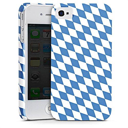 Apple iPhone 5 Silikon Hülle Case Schutzhülle Bayrische Flagge Bayern Fahne Premium Case glänzend