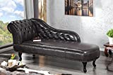Invicta Interior 10942 Chesterfield Recamiere, Dark Coffee