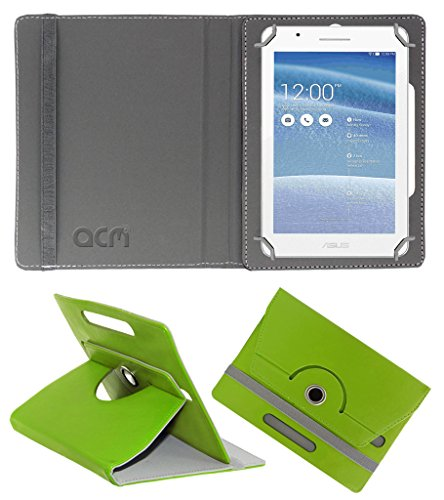 Acm Rotating 360° Leather Flip Case for Asus Tablet Fe171 Cover Stand Green  available at amazon for Rs.149