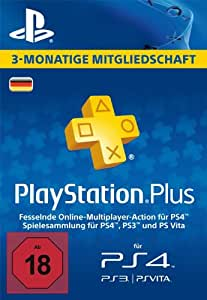 PlayStation Plus Mitgliedschaft - 3 Monate [PS4, PS3, PS