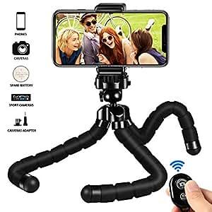 Kungfuren Handy stativ handy für iphone stativ Halterung mit Bluetooth Fernbedienung, Kamera Fernbedienung mit Auslöseknopf für Android und iOS Smartphones, iPad, Digital Kamera, Actions Cam Go Pro