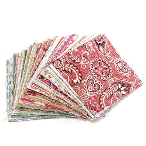 100 Stück Patchwork Stoffe Bunte Baumwollstoff Set Stoffpaket DIY Baumwolltuch Stoffreste Paket Stoffpakete 10cm x 10cm