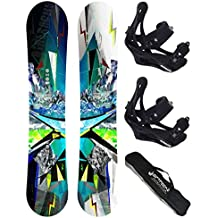 AIRTRACKS SNOWBOARD SET - TABLA PLACES WIDE 156 - FIJACIONES SAVAGE L - BAG/ NUEVO