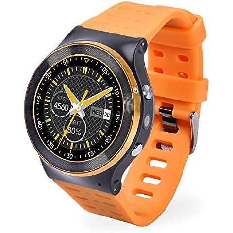 Teléfono del reloj del deporte al aire libre GPS Smart S99 Smartwatch reloj Bluetooth smart TF ranura para tarjeta SIM para teléfonos inteligentes Android V5.1 pulsómetro - Naranja