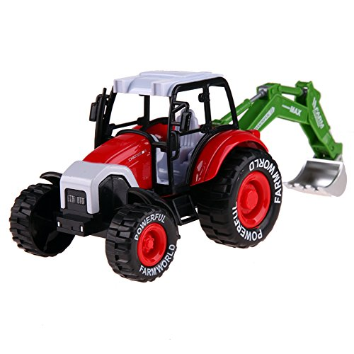 La Cabina Enfant Jouet Véhicules Modèle Mini Agricoles Voiture d'agriculteur Avec Musique et Lumière Inertiels Voiture Jouets Voiture Tracteur Educatif Cadeau pour Enfant (style 5)