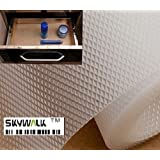 Skywalk Multipurpose Polyester Blend Super Strong Textured Anti-Slip Eva Mat, 5m, White)