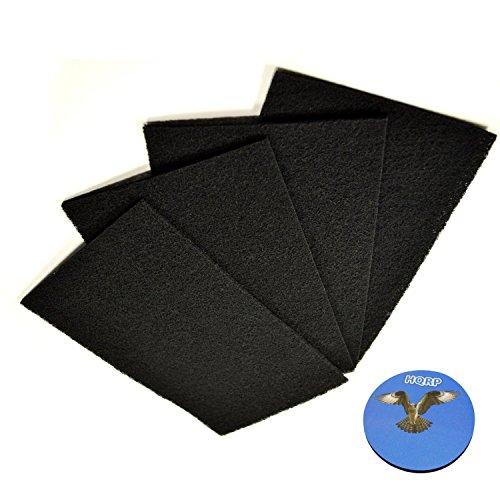 Carbon Holmes Filter (HQRP 4-Stück Carbon Filter C für Holmes HAP615 / HAP625 / HAP633 / HAP633-U / HAP650 / HAP675 / HAP675RC / HAP616B-TU Luftreiniger + HQRP Unterzetzer)
