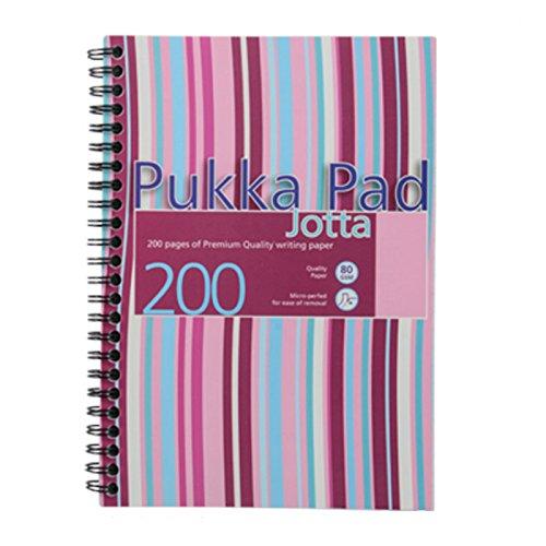 Pukka Pad Jotta Notizbuch spiralgebunden Kunststoff gelocht liniert 200 Seiten 80 g/m² A5 3 Stück farblich sortiert