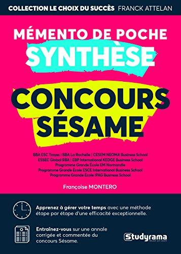Synthèse concours Sésame