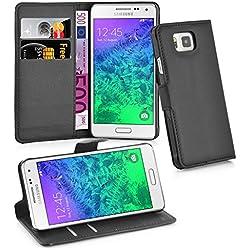 Cadorabo Coque pour Samsung Galaxy Alpha Noir Phantom