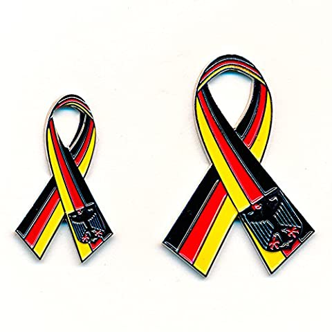 2Germany Hlan D Bow Ribbon Loop Design Stainless Pin 0868/0867