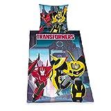 Herding 440346050 Bettwäsche Transformers RID, Kopfkissenbezug: 80 x 80 cm und Bettbezug: 135 x 200 cm, 100 % Baumwolle, Renforce
