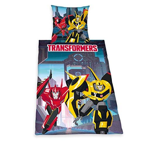 ttwäsche Transformers RID, Kopfkissenbezug: 80 x 80 cm und Bettbezug: 135 x 200 cm, 100 % Baumwolle, Renforce (Transformers Kinder)