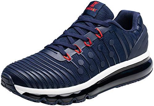 ONEMIX Uomo Scarpe da Ginnastica Sportive Running Basse Basket Sport Outdoor Lightweight Air Cushion Sneakers 1319 Dark Blue45