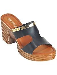 Show Stopper Tan Coloured Synthetic Upper Slip On Sandal For Women