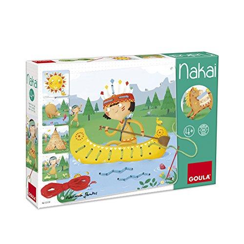 Goula Nakai, juguete para bebé, color azul, rojo y amarillo (Diset 53139)