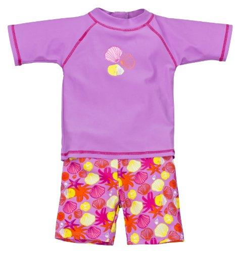 Landora: Baby- / Kleinkinder-Badebekleidung 2er Set mit UV-Schutz 50+ und Oeko-Tex100, violett in Größe 74/80 -