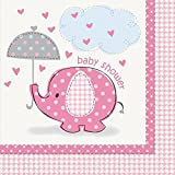 Unique Party Supplies Pink Elefant Baby Dusche Servietten, 16 Stück