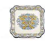Bandeja cuadrada de cerámica de Talavera de la Reina
