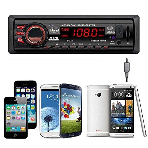 In Dash Car Audio Bluetooth Stereo Kopfeinheit MP3 / USB / SD / AUX / FM Eingang AUX