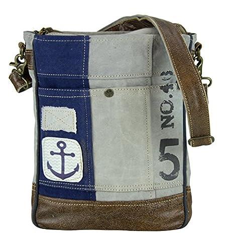 Sunsa Damen Herren Vintage Tasche Umhängetasche Schultertasche aus Canvas