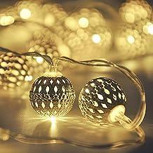 Techno E-Tail 20 Led Metal Ball Decoration Lights For Diwali Christmas Festival Home Decorative Lights