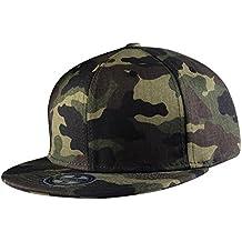 Aivtalk - Gorra de Béisbol Unisex Camuflaje Hip Hop Snapback Sombrero Plano  Dance Hat Moda Accesorio af2e2b5a80e