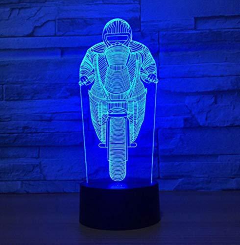 ZJFHL Fahrt Motorrad Modell Arylic LED Lampe Fernbedienung 3D nachtlicht Bunte Stimmung Party Dekorative Lampe Atmosphäre Geschenke