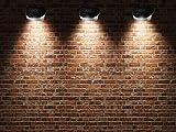 SoSupplies 6 x Solar Powered Door Fence Wall Lights LED Outdoor Garden Lighting