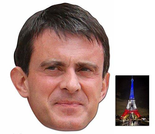 Valls Kostüm Manuel - Manuel Valls Französisch Politician Single Karte Partei Gesichtsmasken (Maske) Enthält 6X4 (15X10Cm) starfoto