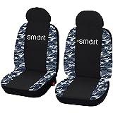Lupex Shop Smart. 013_ B. fundas para fundas de asiento para MB Smart Fortwo (modelos de 2007–2013), color negro, diseño de camuflaje, color azul