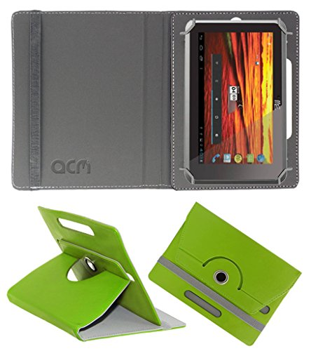 Acm Rotating 360° Leather Flip Case for Hcl Me Y3 Cover Stand Green  available at amazon for Rs.149