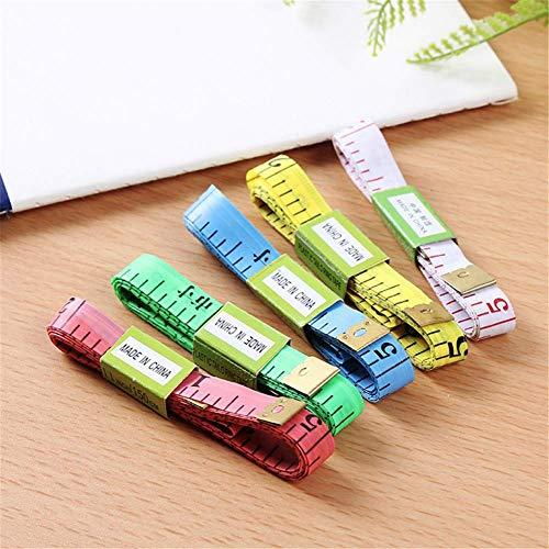 eujiancai 5 pcs Colorful Soft Tape Measure Sewing Tailor Cloth Ruler Body Measurement (Mixcolor) (Builder Kit Pc)