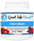 Cherry Beet Beetroot PLUS Montmorency Cherry (60 Vegetarian Capsules)
