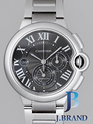 Cartier Ballon Bleu automatico da uomo grigio guilloche Dial stainless...