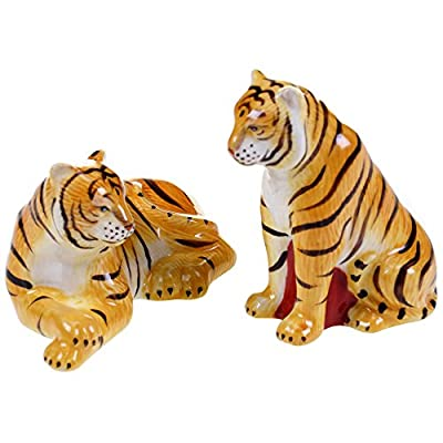 Imperial Bengal Tigers Salt and Pepper Shaker Set Ceramic Safari Animals from Certified International